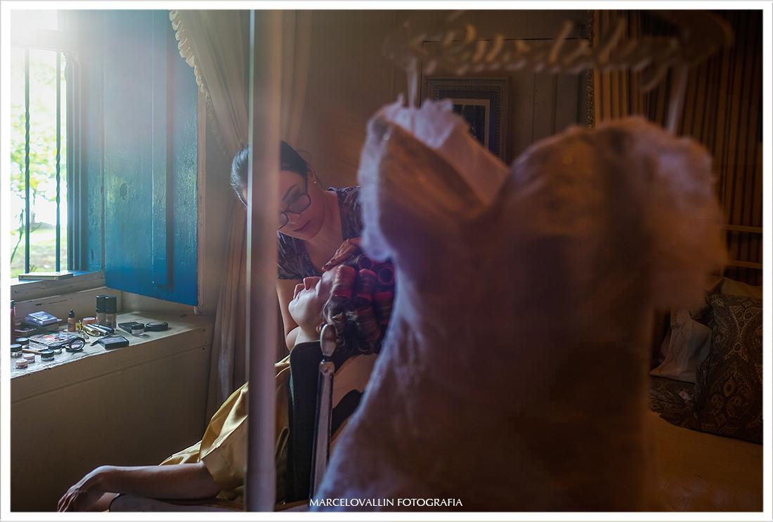Fotografia de casamento no campo - Making of noiva