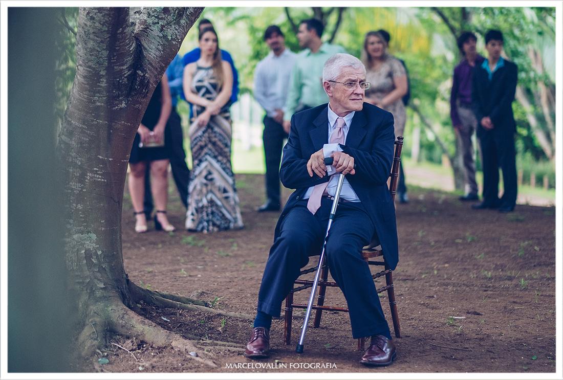 Foto do pai da noiva - Casamento no campo SP