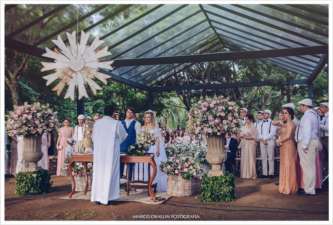 Casamento no campo - cerimonia de casamento