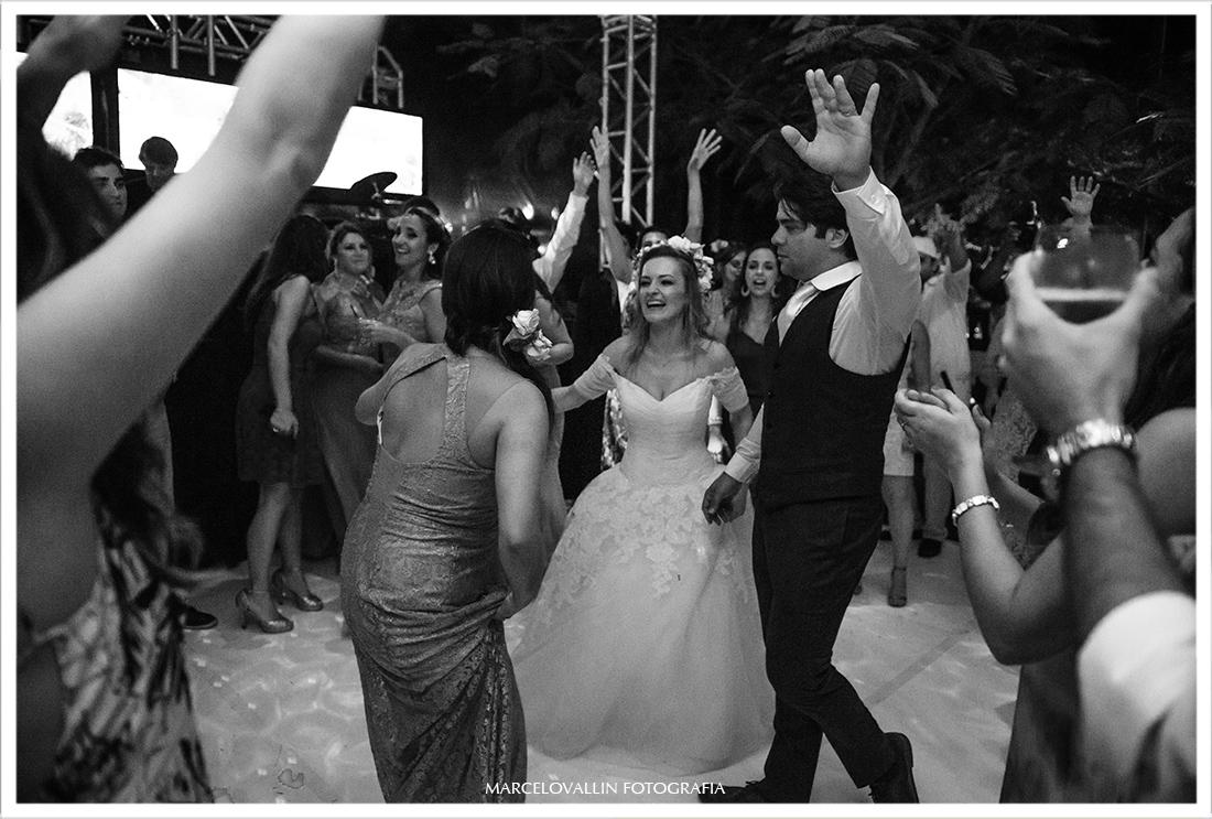 Foto dos noivos em festa de casamento
