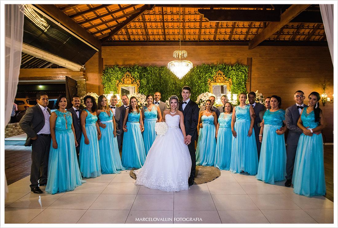Foto dos noivos com os Padrinhos