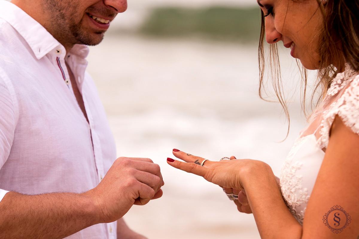 casamento na praia troca de aliança floripa sc