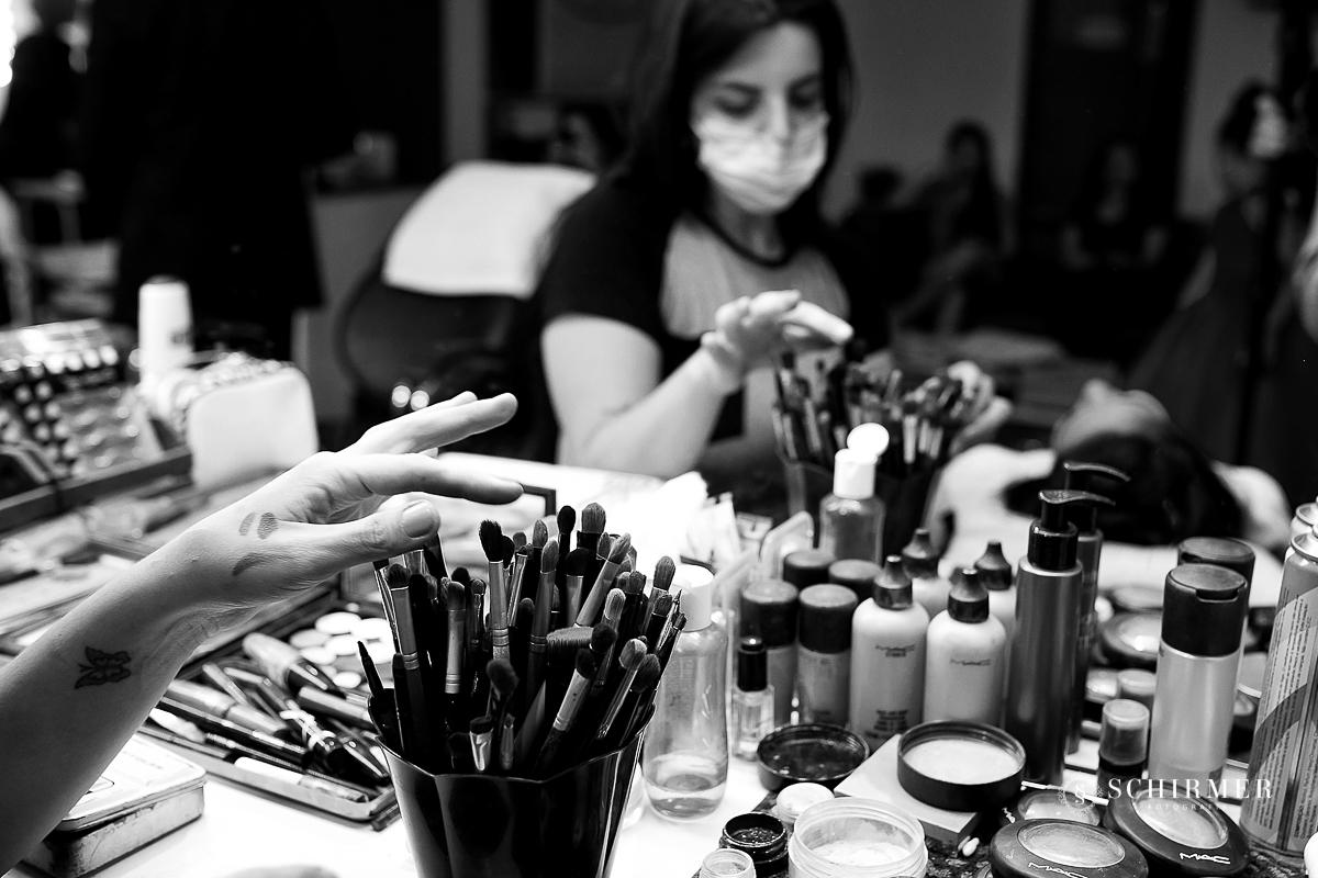 maquiagem da noiva - making of noiva make divando divas maquiadoras top  - schirmer fotografia pinceis de maquiagem