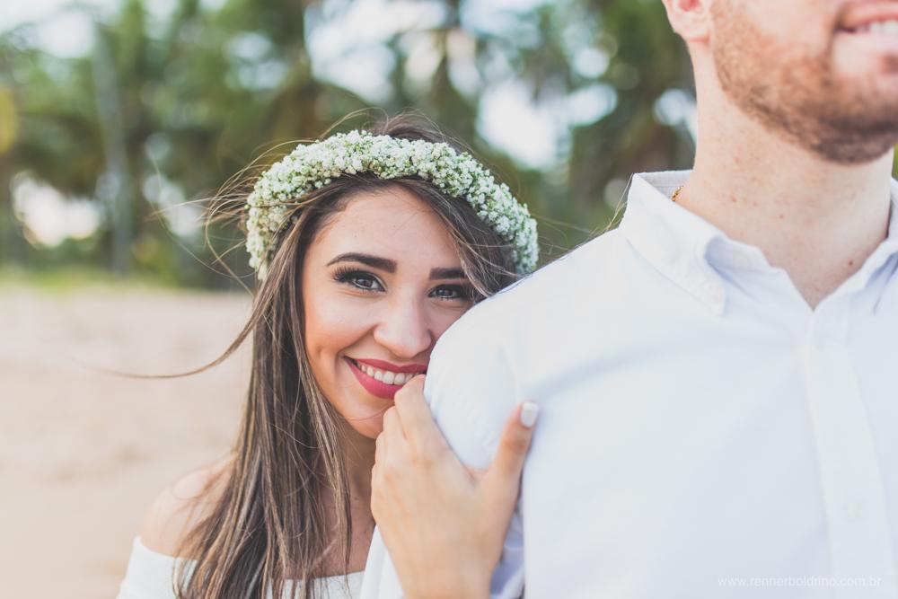 foto noiva coroa de flores