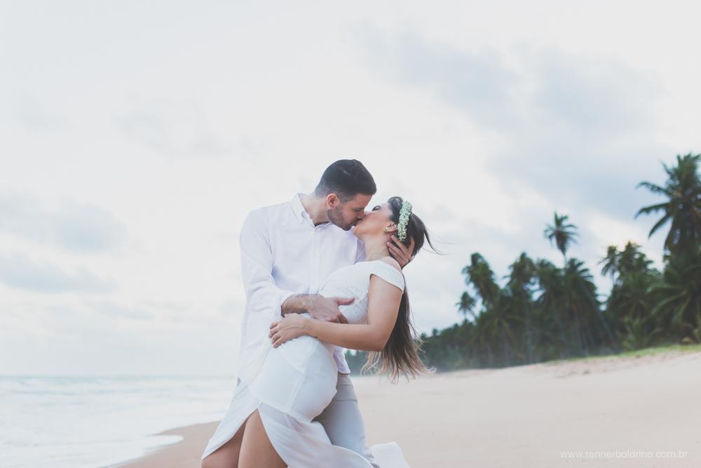 beijo noivos praia maceio