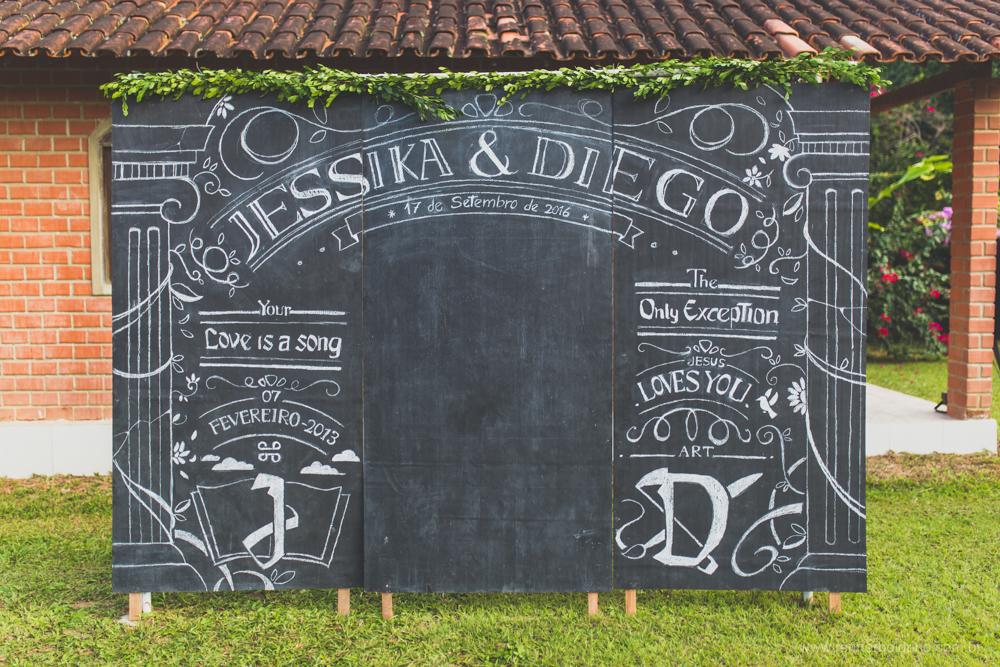 chalkboard desenhado pelo noivo