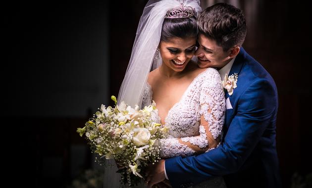 Capa do álbum do Casamentos de Jéssica Oliveira e Kaio Capilla fotografados por Eduardo Perazzoli