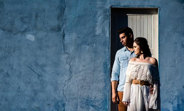 Capa do álbum do Ensaios de Katia Merten e Renan Pereira fotografados por Eduardo Perazzoli