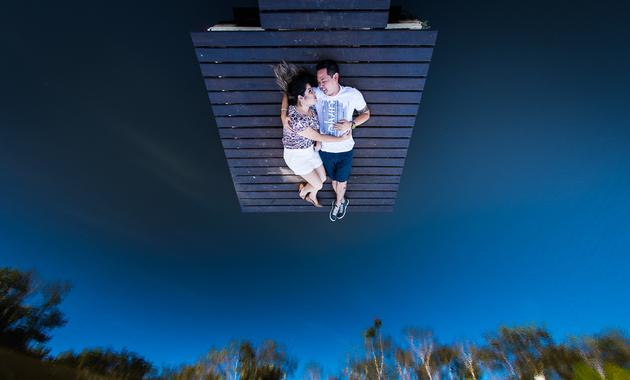 Capa do álbum do Ensaios de Carol Yamao e Eduardo Hisamitsu fotografados por Eduardo Perazzoli