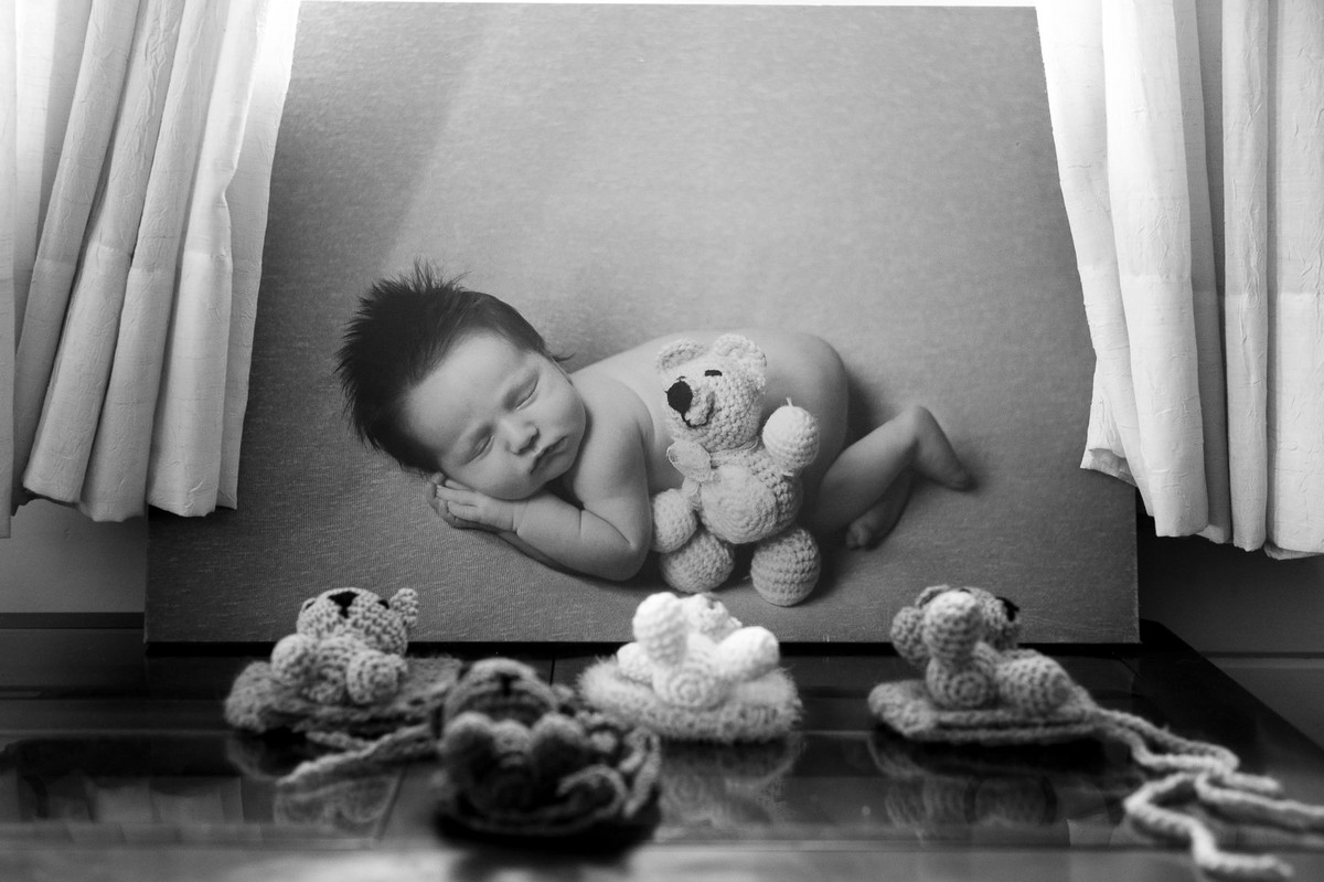 Conjuntos de touca e amigurumi por Cantinho da Vivi, fotografia por Johnny Acunha