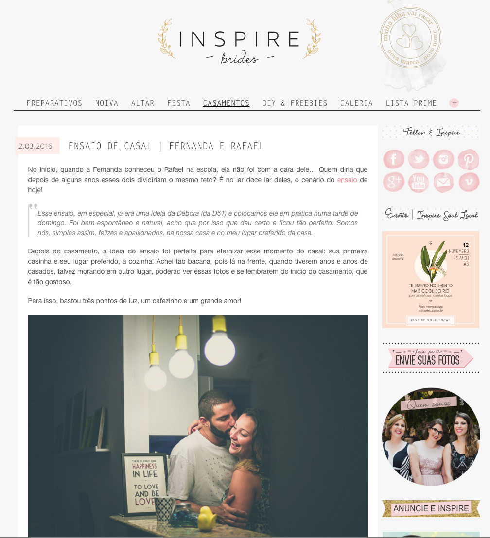 Foto de Nanda E Rafa Blog Inspire