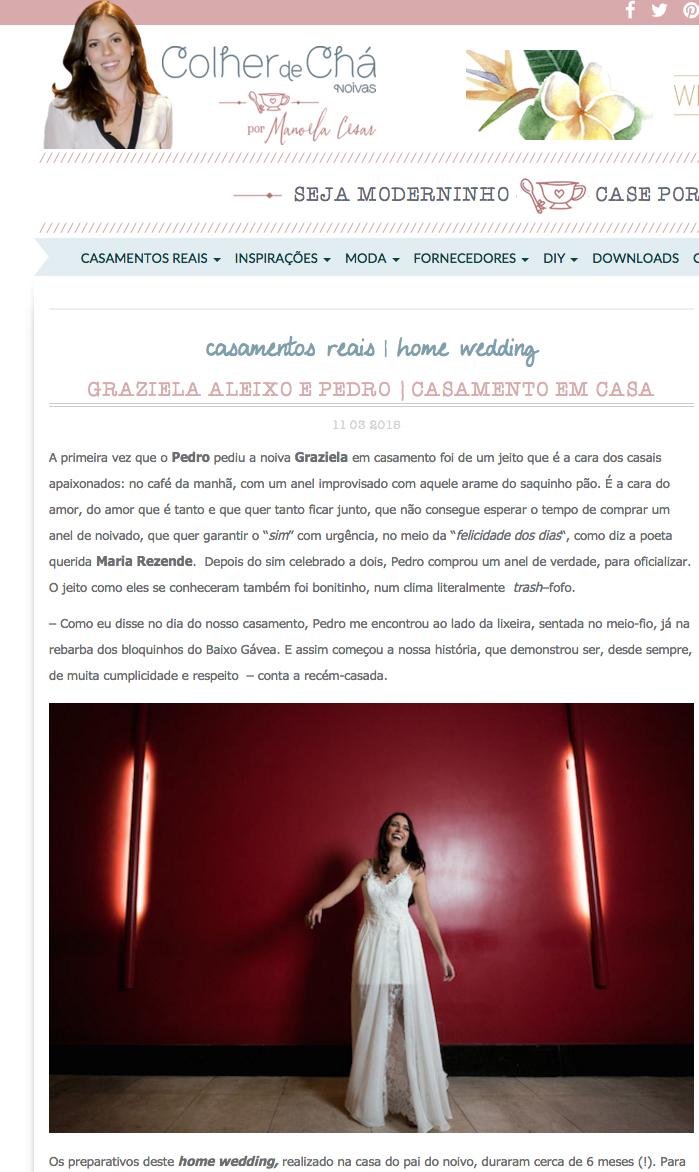 Foto de Graziela e Pedro Blog Colher de Chá