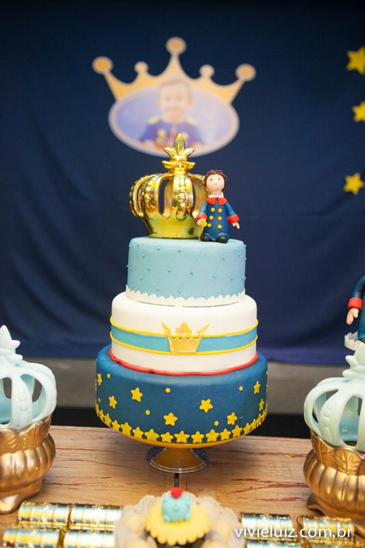 bolo decorado do pequeno príncipe