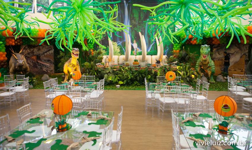 decoração de jurassic park