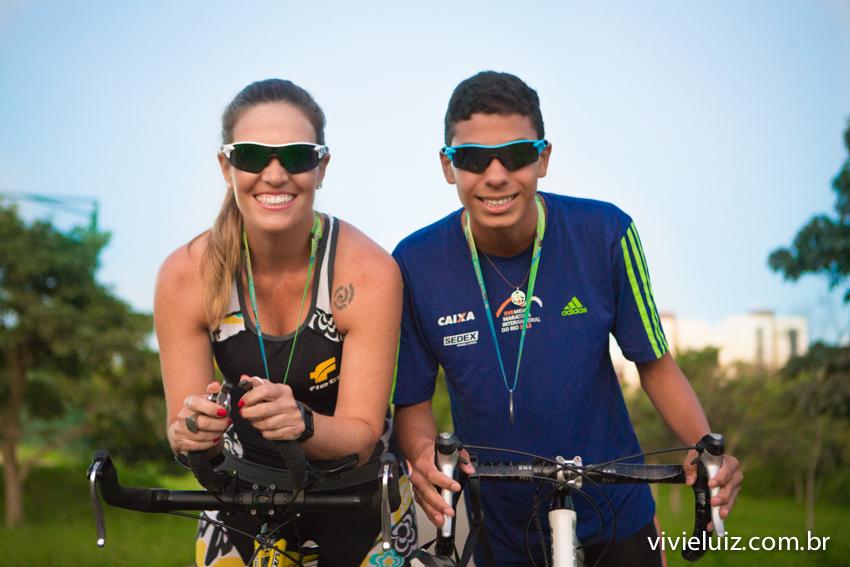 ciclistas mae e filho