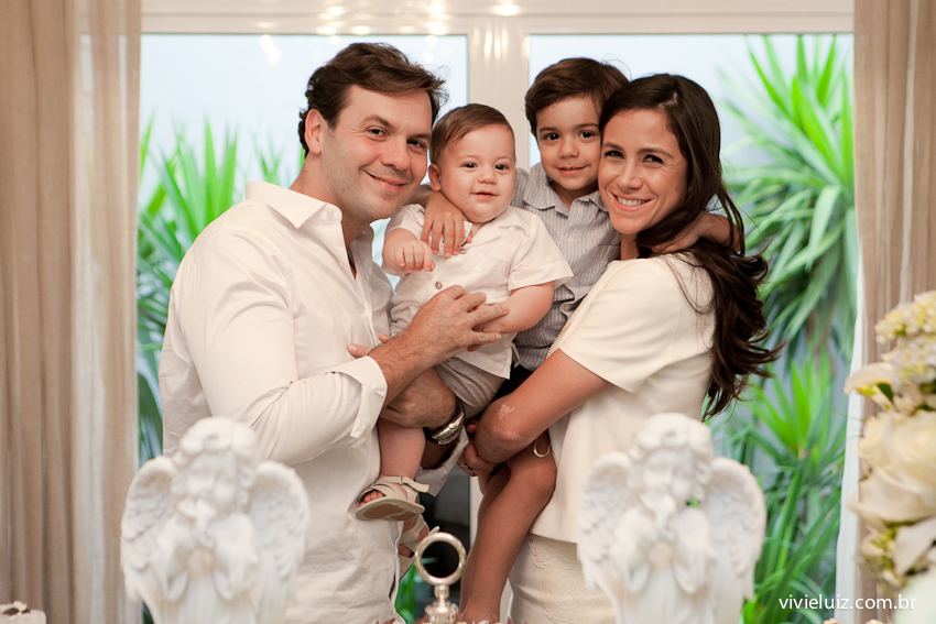 Família no batizado