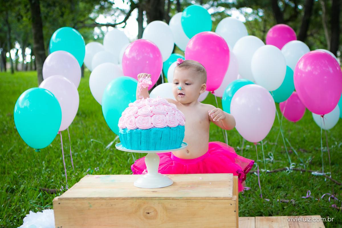 Smash the cake Rosa e Azul