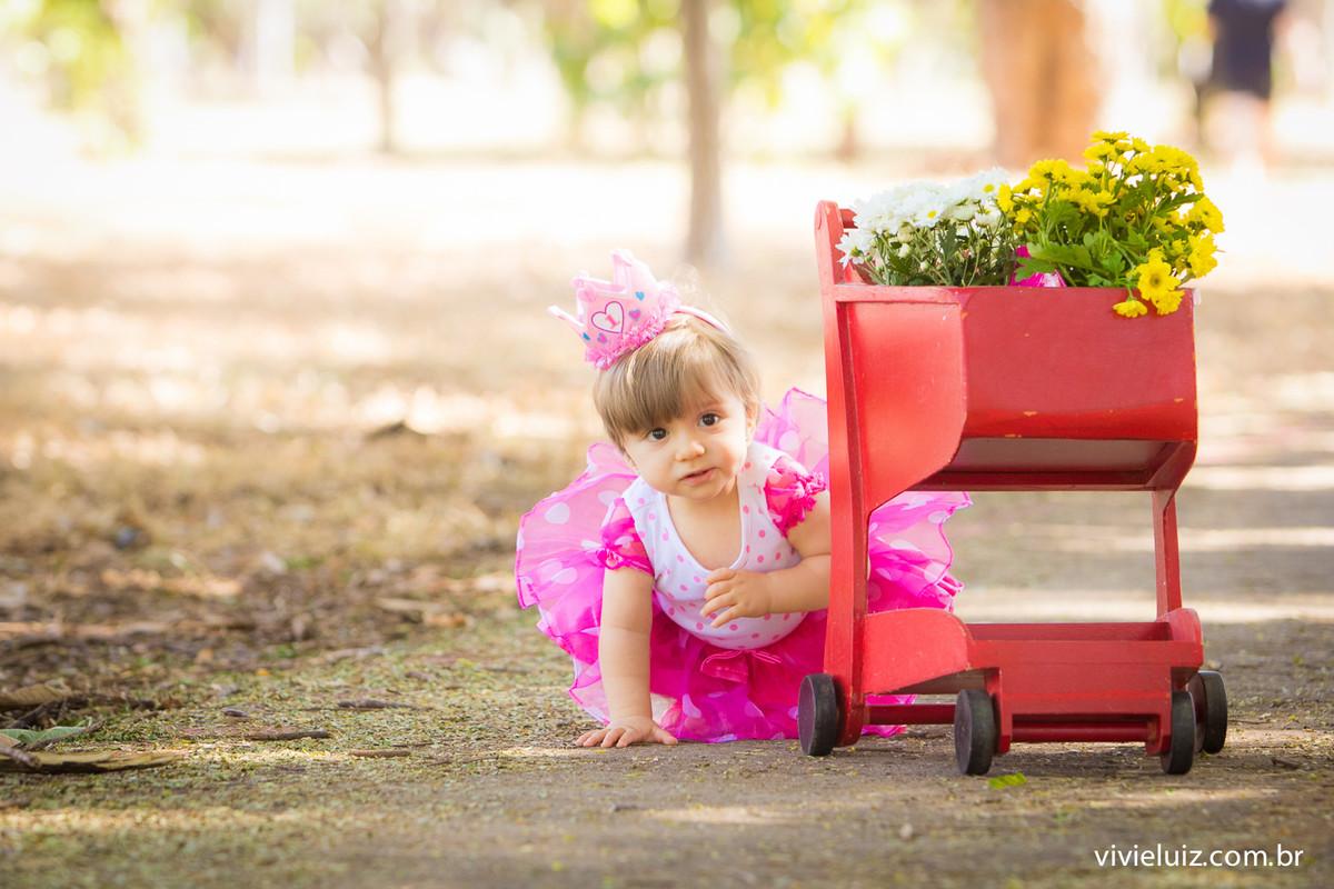 menina com coroa de 1 ano