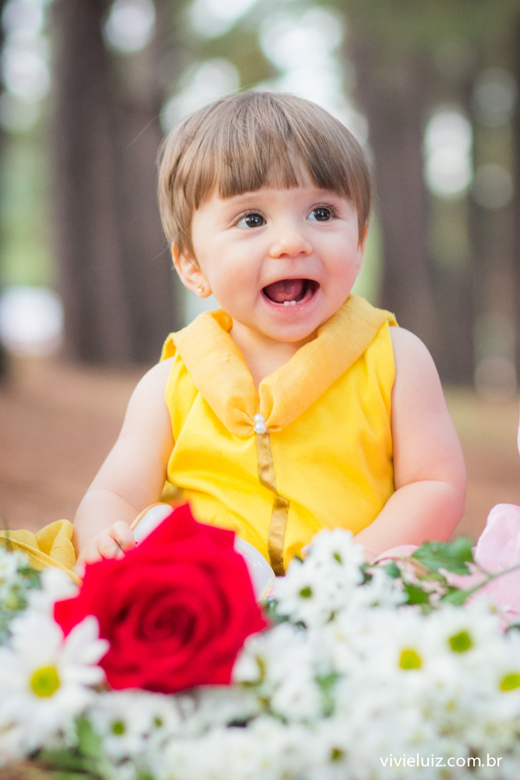 princesa da disney fantasiada em criança