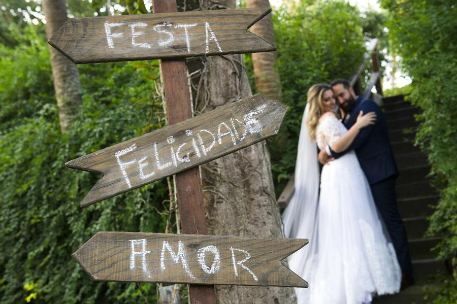 Plaquinhas da decoração do casamento
