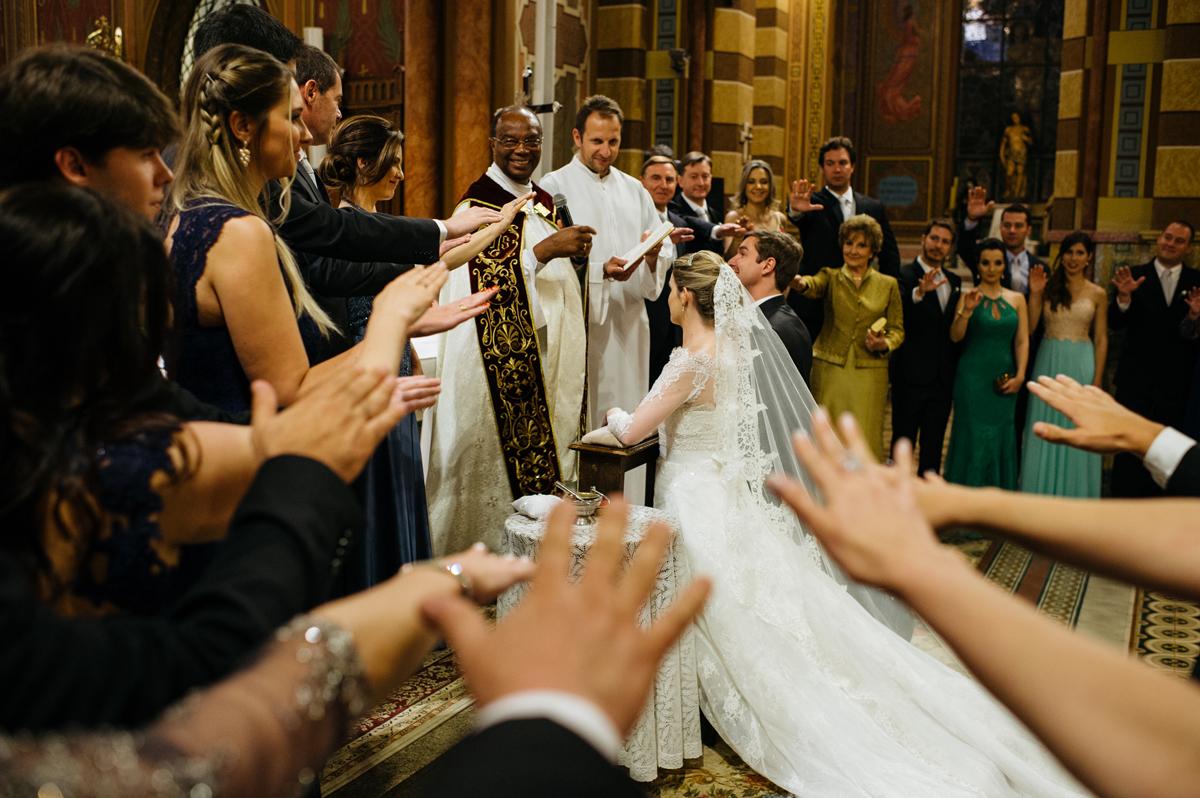 Benção do casal de noivos