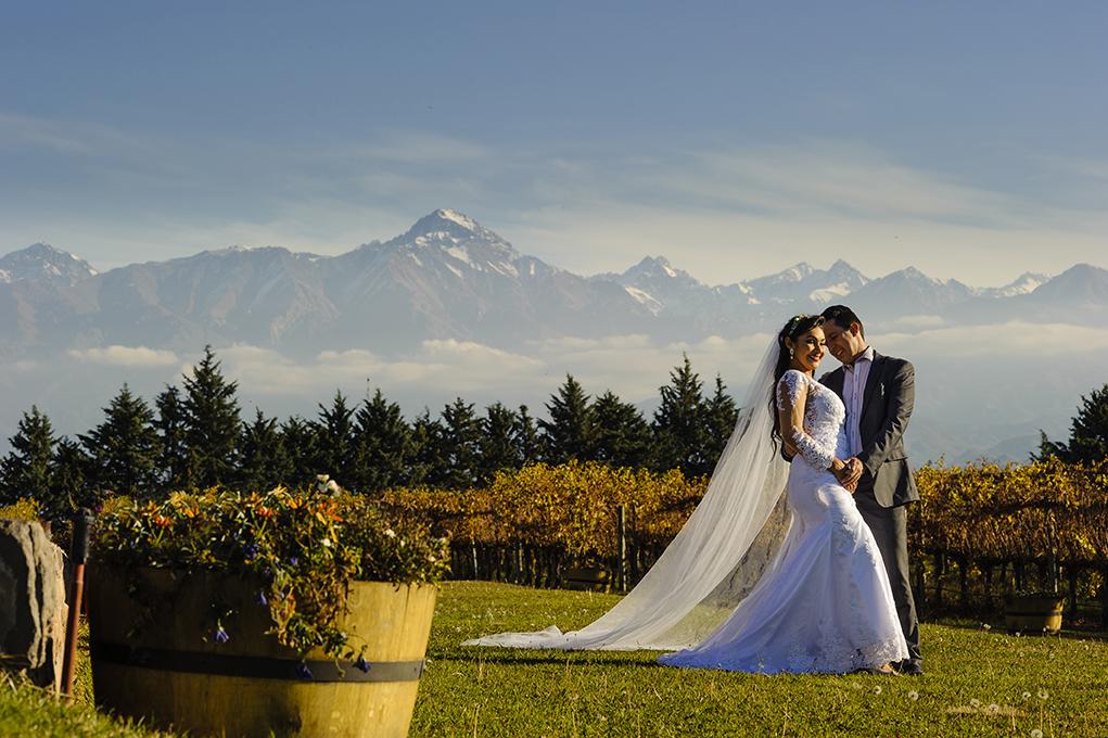 ensaio de noivos em Mendoza na Argentina
