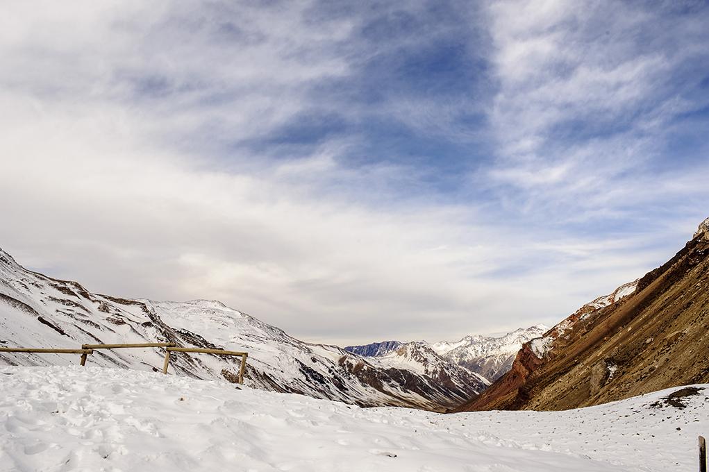 Bela vista do vale do aconcagua