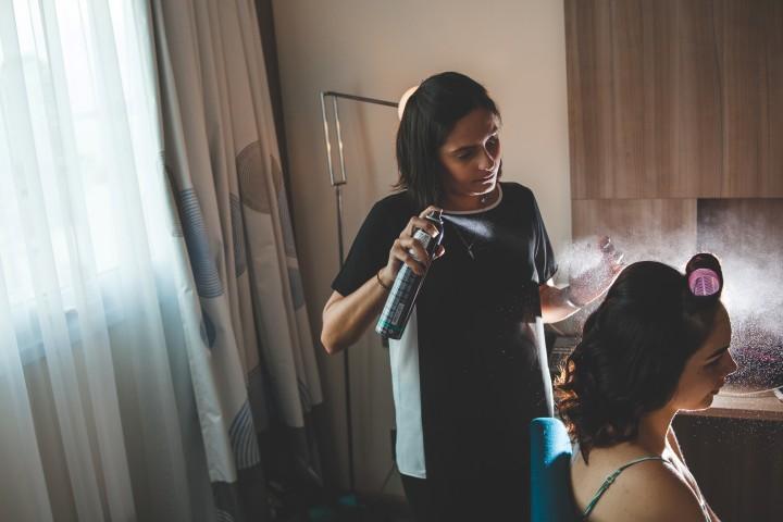 making of da noiva no hotel em santos