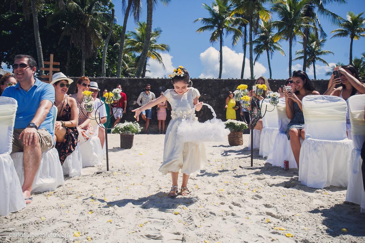 casamento na praia do guaruja