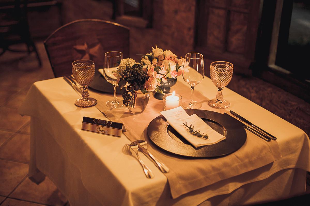 mesa de jantar dos noivos