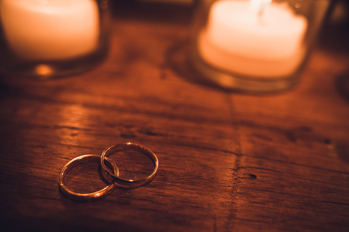 alianças dos noivos