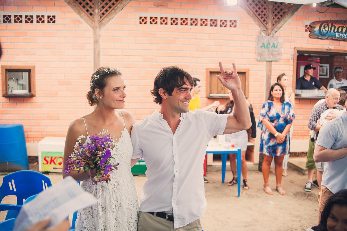 casando na praia