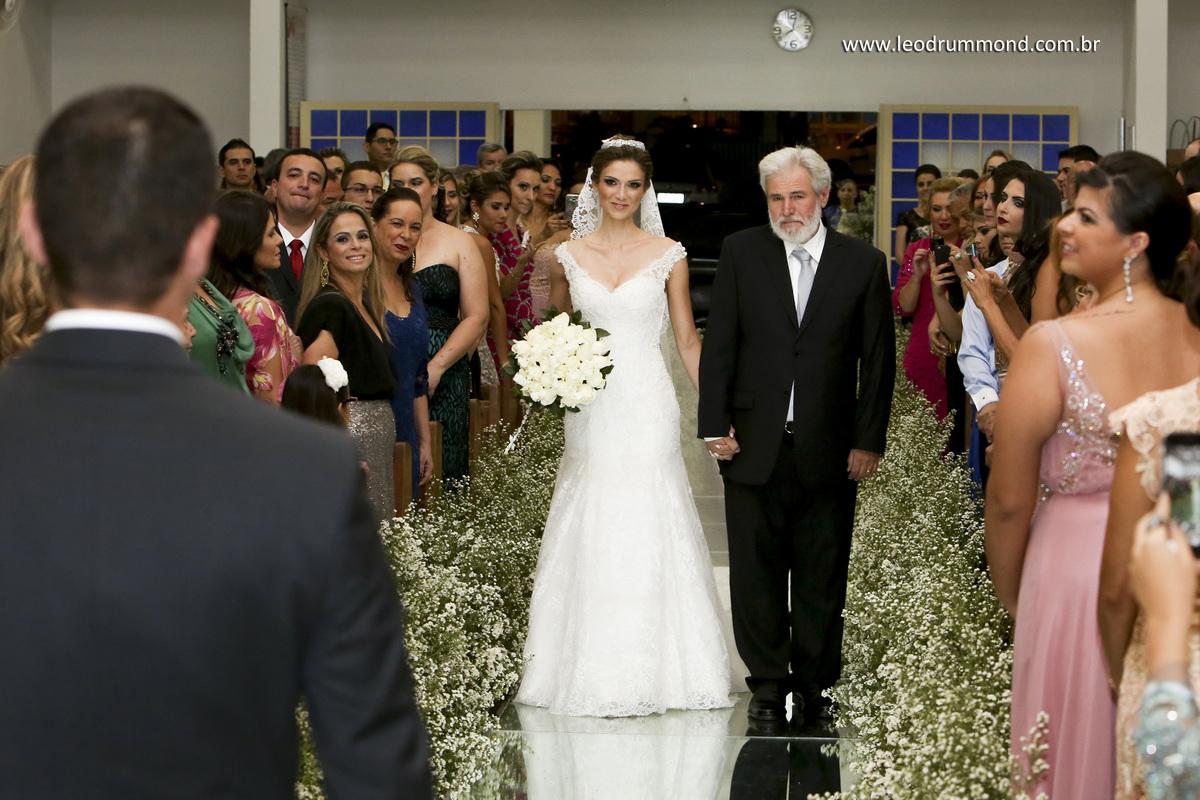 entrada da noiva, tapete de espelho