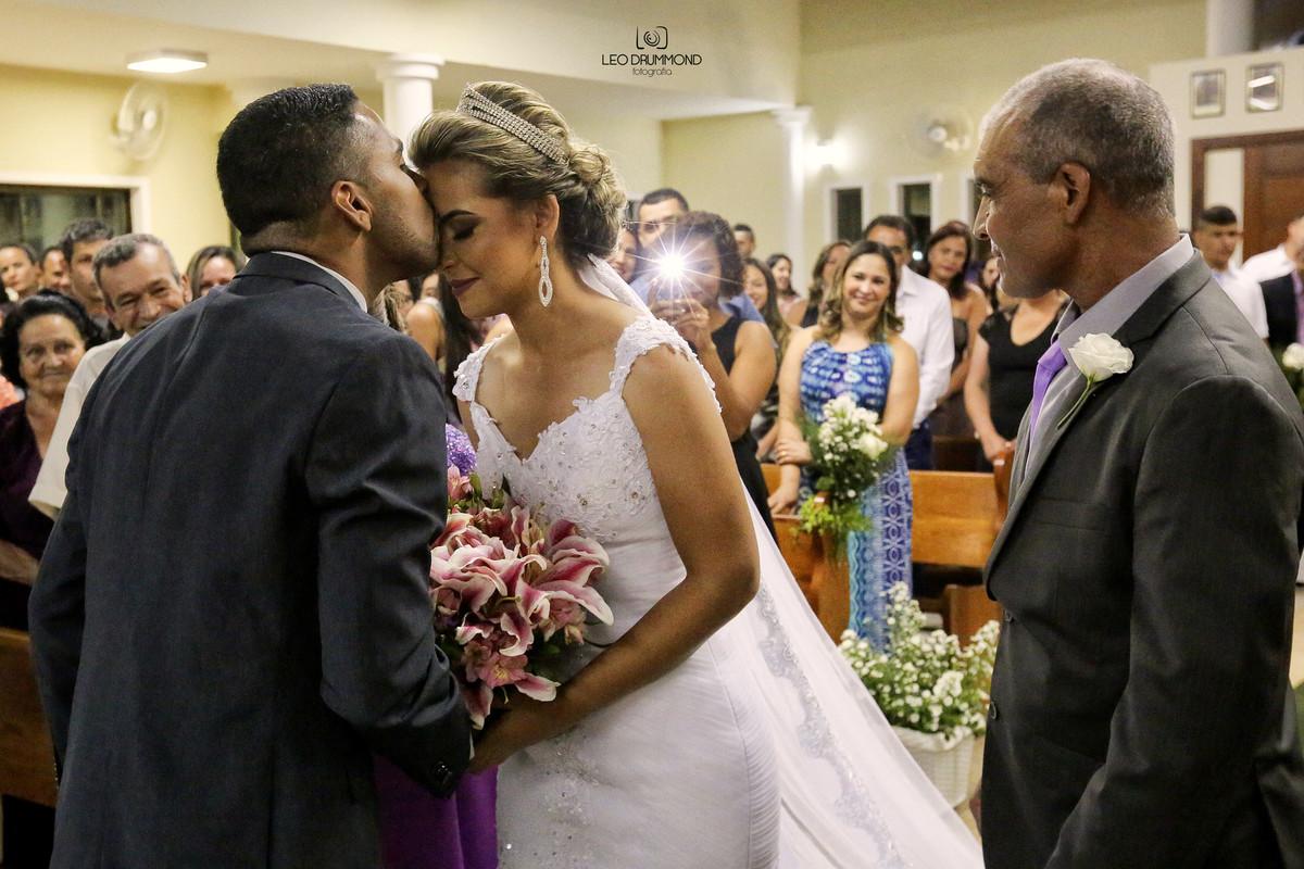 Cumprimentos da  noiva