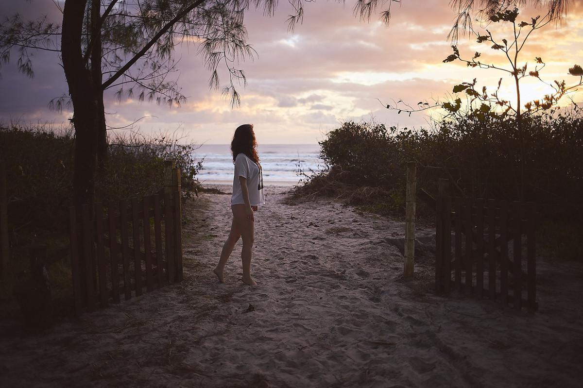 Amanhecer no caminho da praia