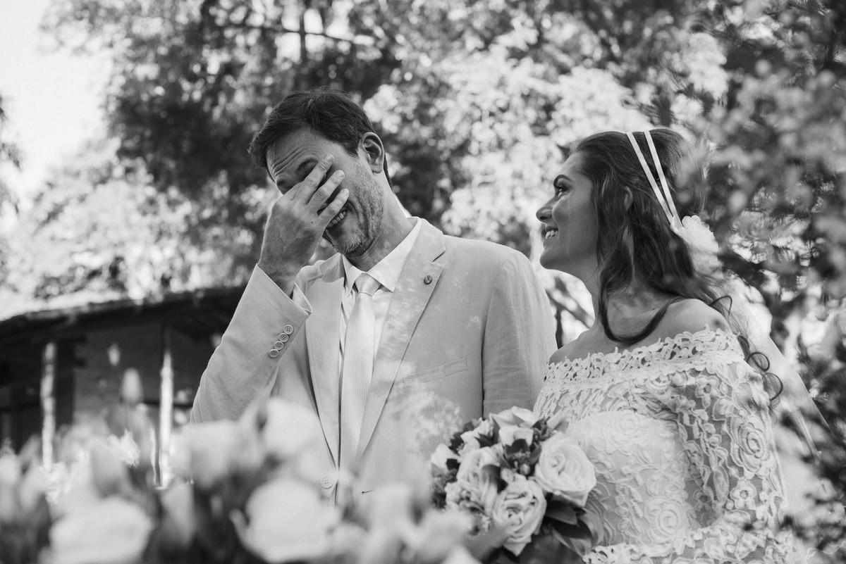 Casamento Lívia e Fernando, Campinas - SP, Quinta das Bromélias, noivo emocionado