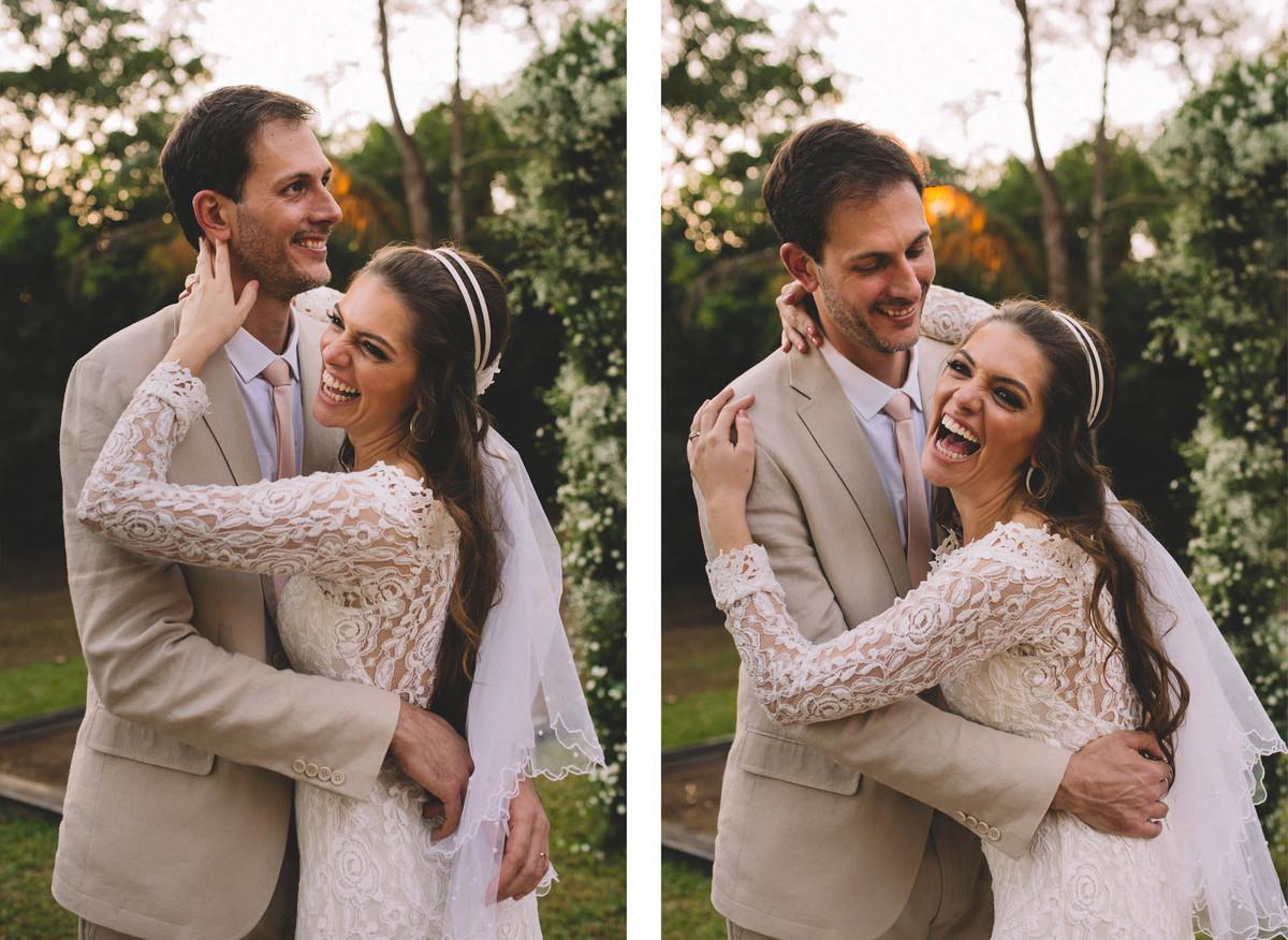 Casamento Lívia e Fernando, Campinas - SP, Quinta das Bromélias, sorriso