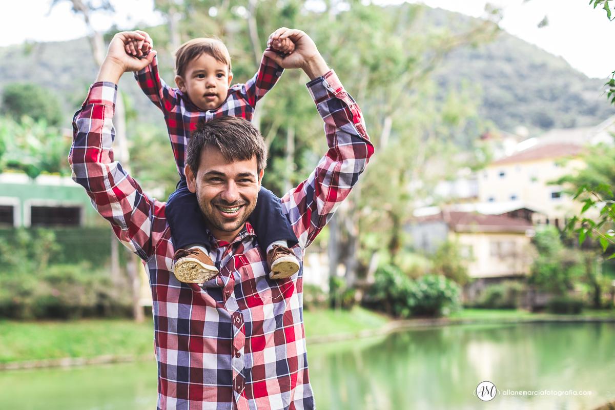 pai com filho na carcubda