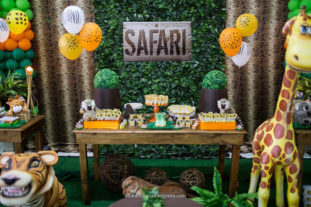 decoração safari para festa infantil