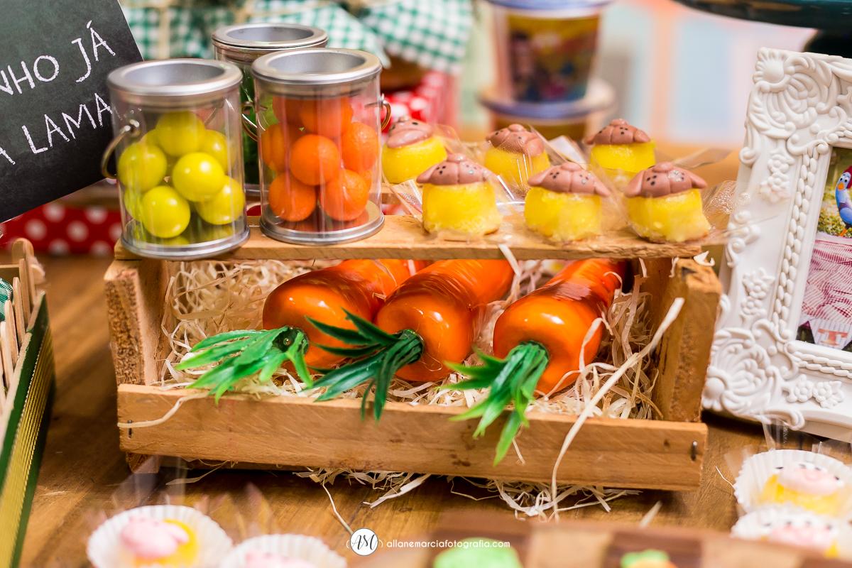 cenouras para decorar mesa