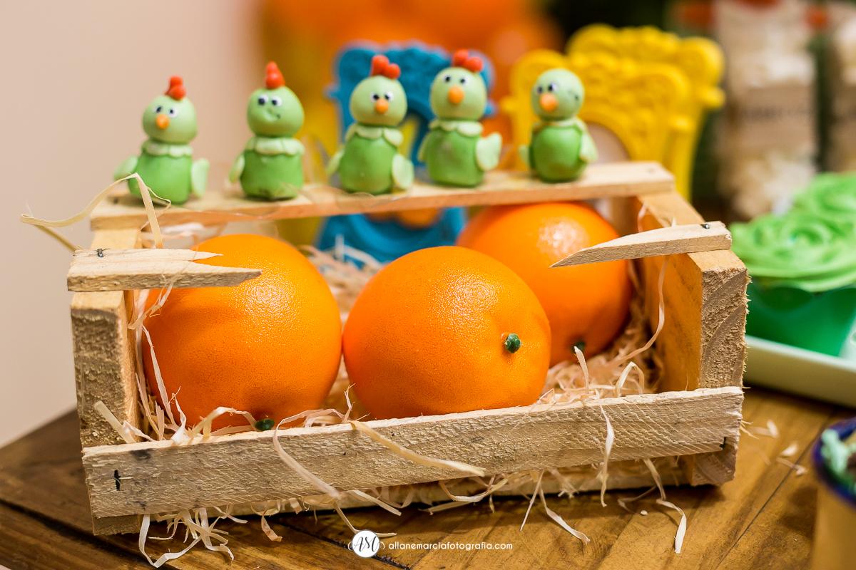 laranjas para decorar festa infantil