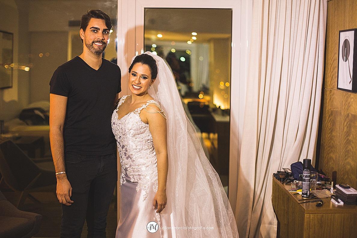 maquiador e noiva