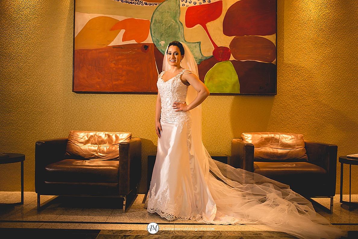 noiva vesta pronta para casar