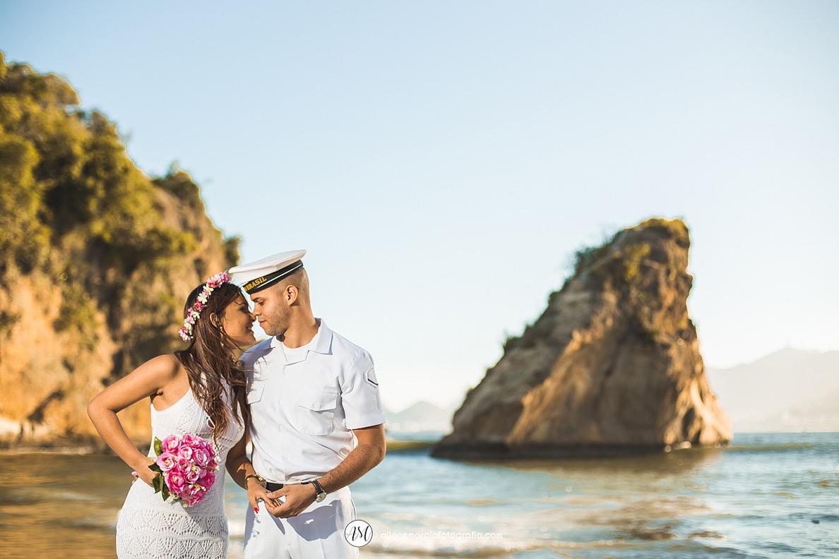 ensaio do casal na praia