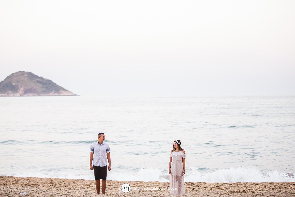 noivos ensaio na praia