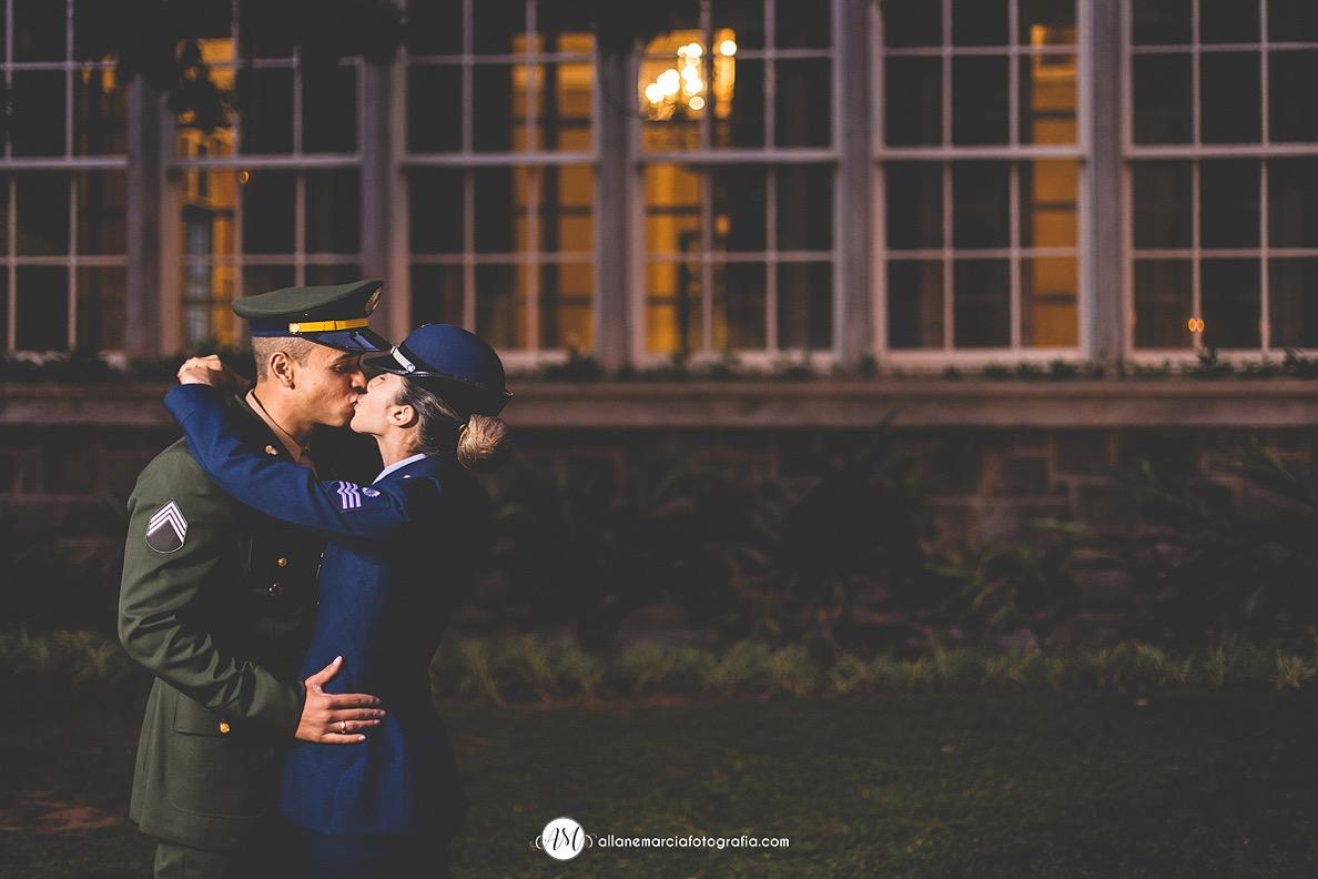 ensaio de noivos militar