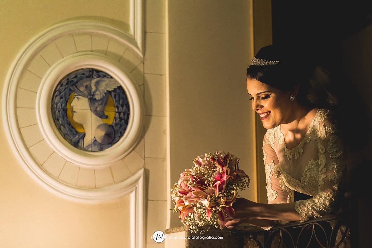 noiva com seu bouquet