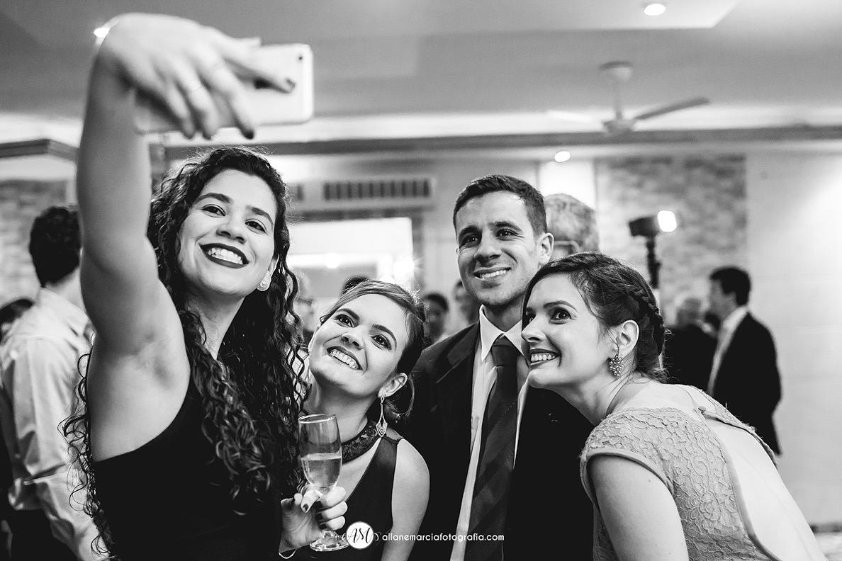 selfie na pista de dança
