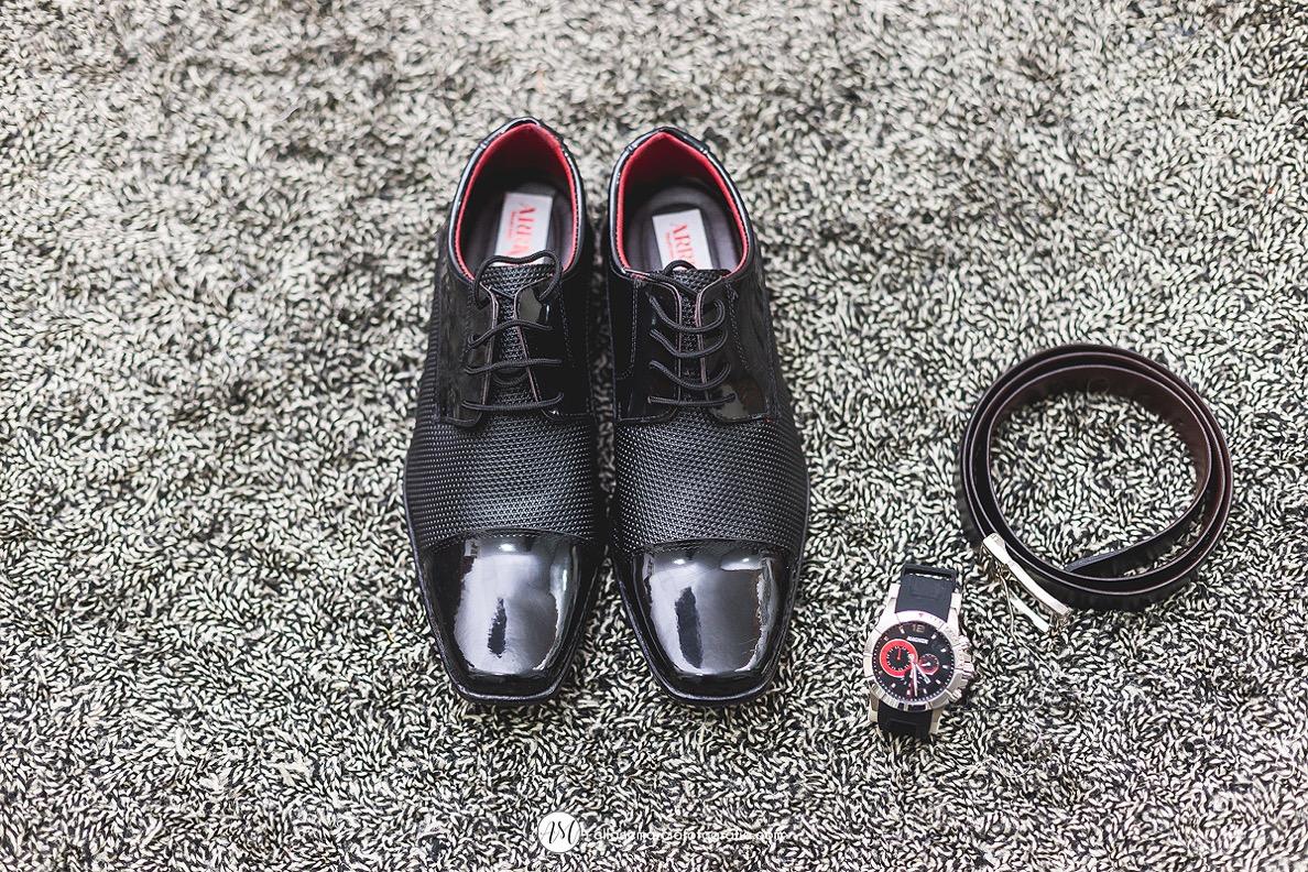 Sapato e acessórios de noivo