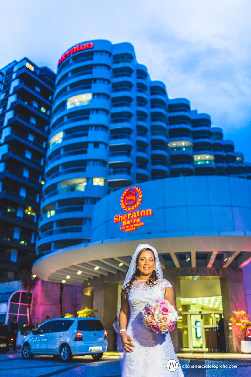 noiva no hotel shereton da Barra da tijuca